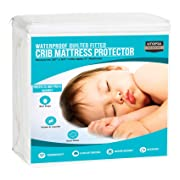 Utopia Bedding Waterproof Crib Mattress Protector - Quilted Crib Fitted - Cradle Mattress Pad (Single Pack)