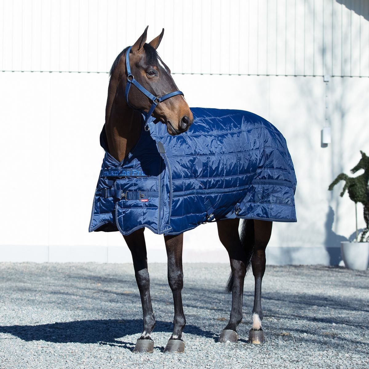 Horze Supreme Avalanche 600D Stable Blanket (75 (140), Dark Blue)