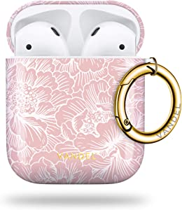 Vandel Floral AirPod Case Aesthetic Cover for AirPods 2nd Generation & 1st Gen, Cool AirPods Case Keychain, AirPod Cases Cute Designs for Women / Girls, Case with Wireless Charging