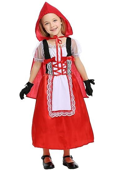 Beutyshop Kinder Rotkappchenkostum Kinderkostum Madchen Halloween