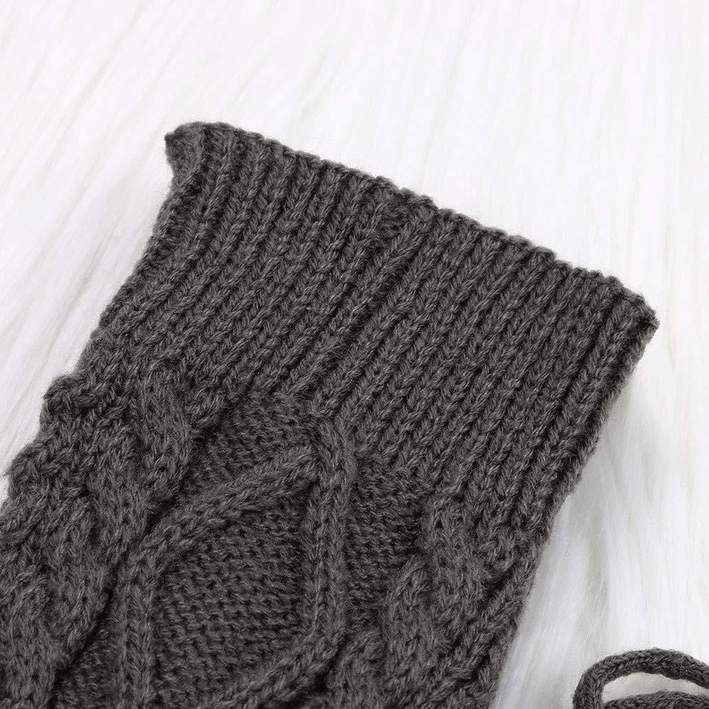 sweeyu Calcetines largos de algod/ón para ni/ñas y mujeres
