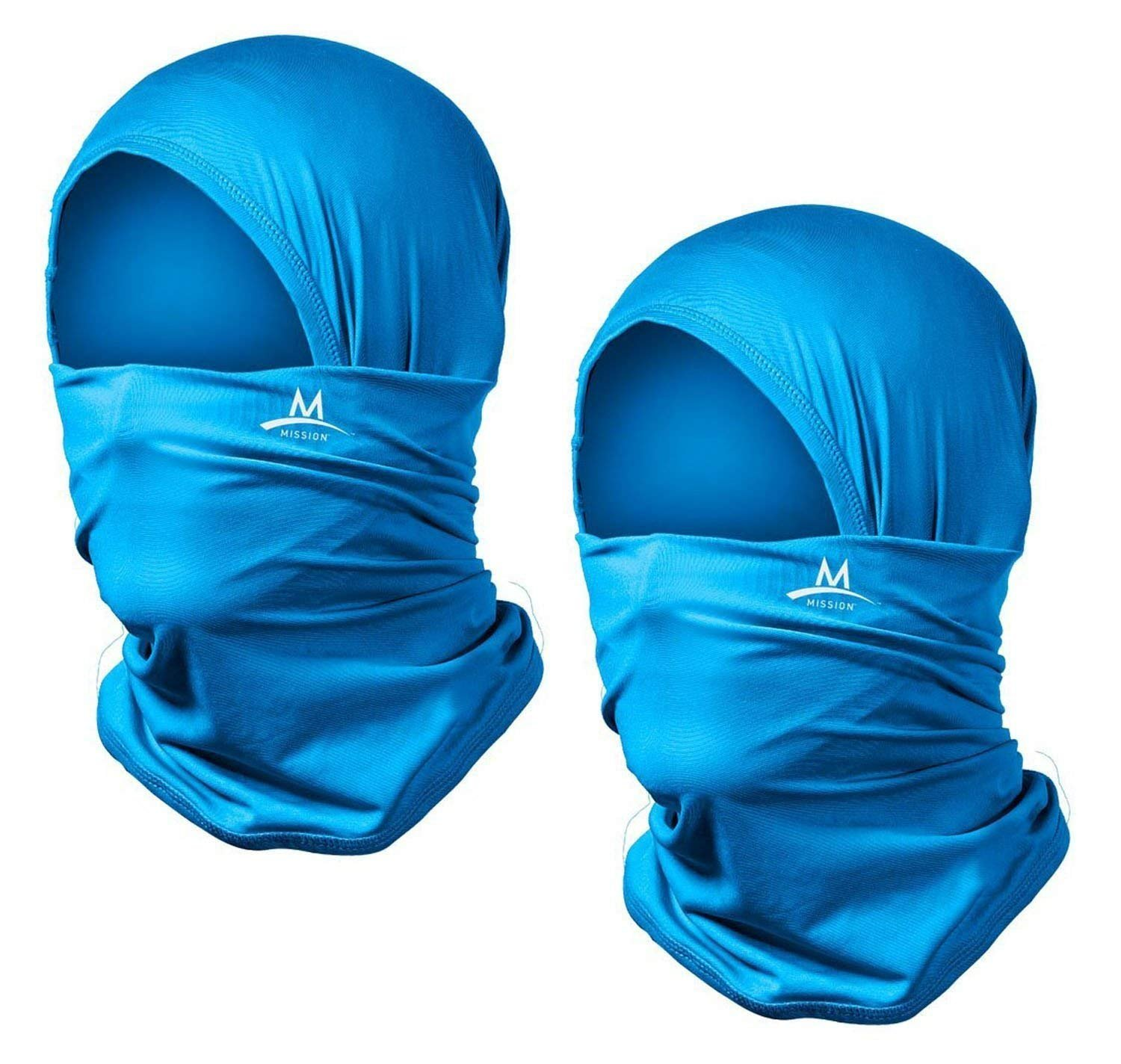 Mission Multi-Cool 12 in 1 Multifunctional Gaiter and Headwear (Blue: 2 Pack)