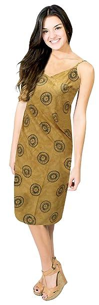 983fc7160 LA LEELA Beach Wrap Sarong Women Bathing Swimsuit Cover ups Pareo Printed  Beige