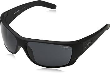 Arnette Mens Heist 2.0 0AN4215 Rectangular Sunglasses, FUZZY BLACK, ...