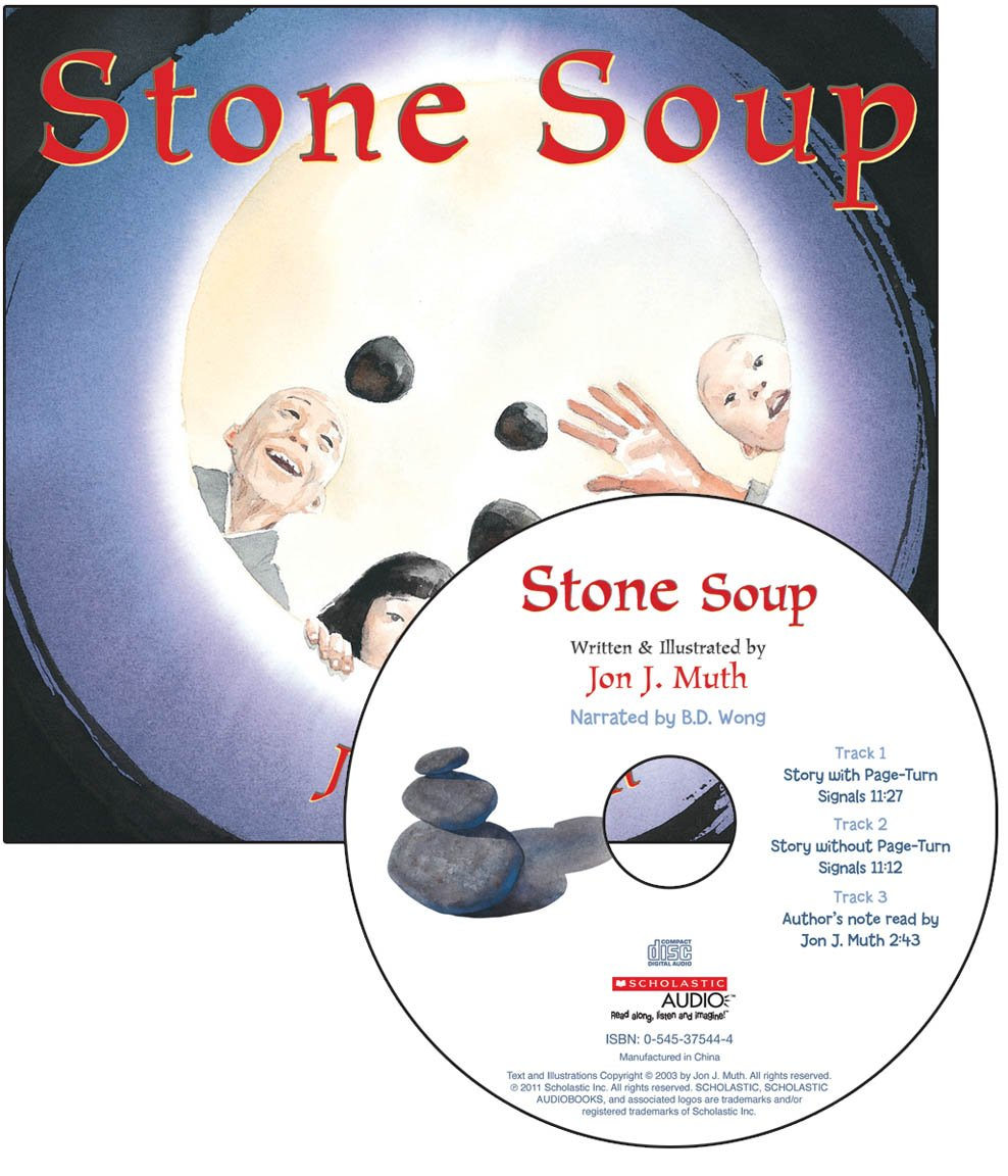 Stone Soup - Audio (Read Along Book & CD): Jon J Muth: 9780545353946 ...