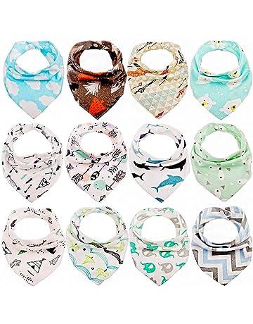 031c639a9 Tomkity 12pcs Baberos Bandana Baberos Bebe Diseño de Animales para Bebés y  Niños