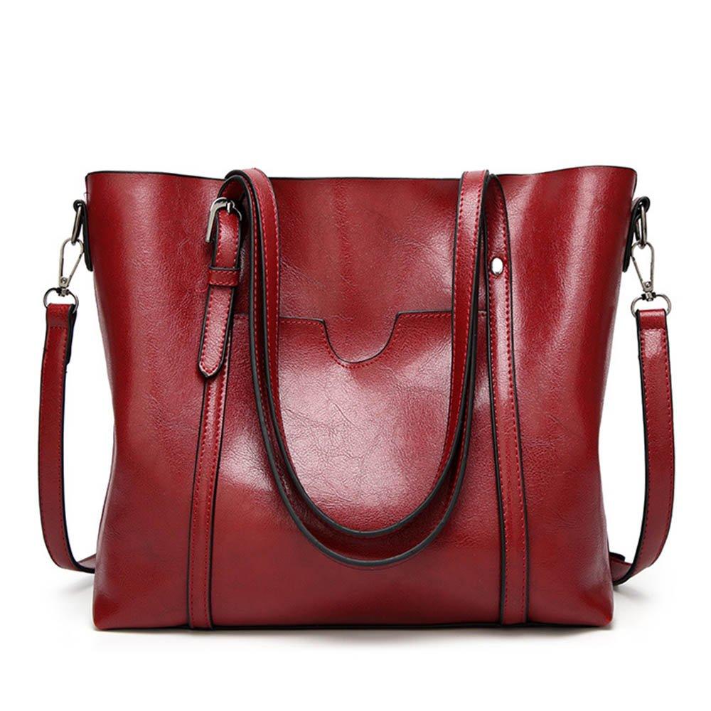Women Handbag, ISHOWDEAL PU Leather Vintage Style Casual Satchel Women Top Handle Satchel Handbags Bag Shoulder Hobo Messenger Bag Tote Purse
