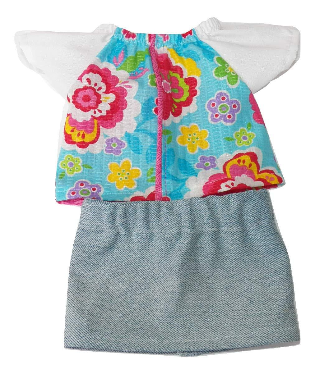 Cabbage Patch Kids 16 inch Doll Clothes Handmade Blue Jean Denim Skirt Set
