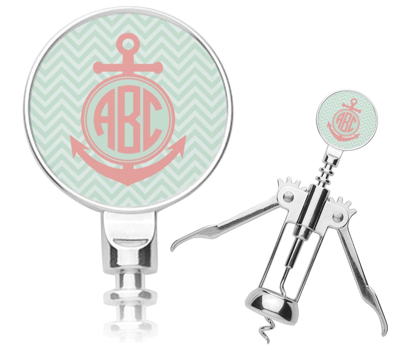Chevron & Anchor Corkscrew (Personalized)
