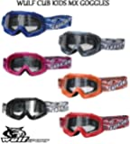 Wulf MOTORBIKE WULFSPORT CUB KIDS JUNIOR GOGGLES Motorcycle Motocross Quad MX ATV Sports Goggles