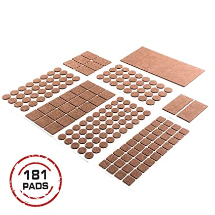 Heavy Duty Self ADHESIVE FURNITURE PADS Brown.Your Best Wood Floor  Protectors. ULTRA