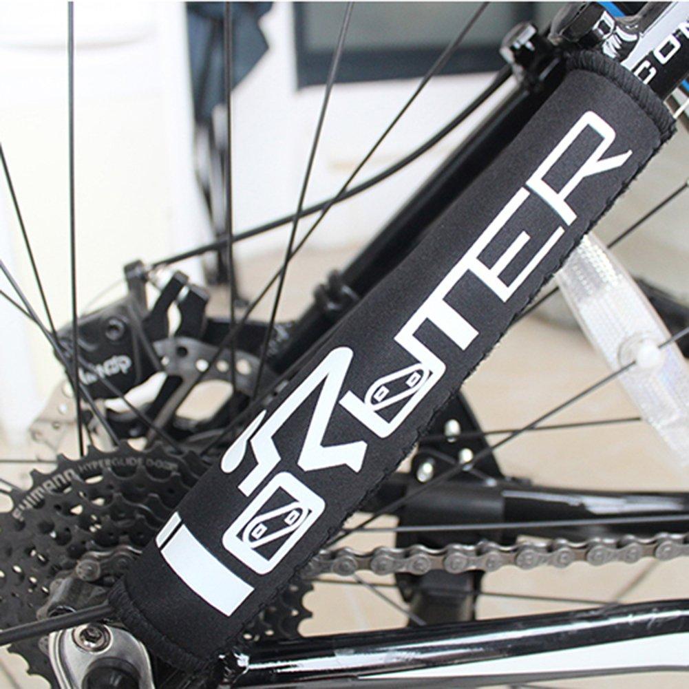 Fahrrad Rahmen Kette Displayschutzfolie Outdoor Sport Mountain Bike rahmenunterstrebe Schutzh/ülle Guard Cover schwarz