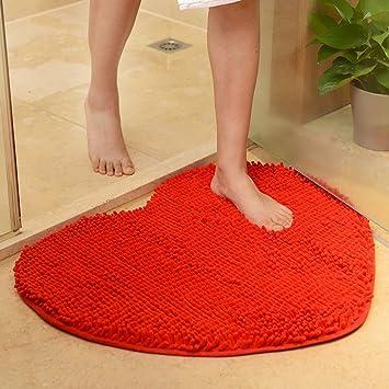 Amazon Com Yjbear Sweet Heart Pattern Chenille Anti Slip Microfiber