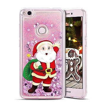 MOSORIS Funda Huawei P8 Lite 2017 Navidad Silicona Purpurina ...