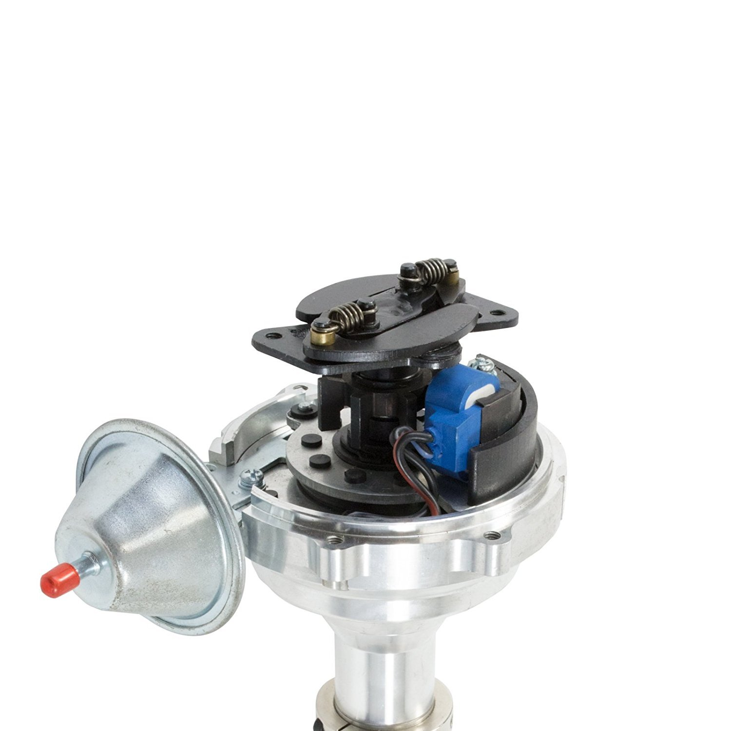 A-Team Performance SBC BBC V8 327 350 396 454 Pro Billet Series Ready to Run Distributor Compatible With CHEVY GMC Chevrolet with Fixed Collar R2R Black Cap