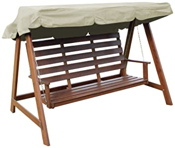 Woodside Cream 2 Seater Garden Swing Chair Replacement Canopy Spare