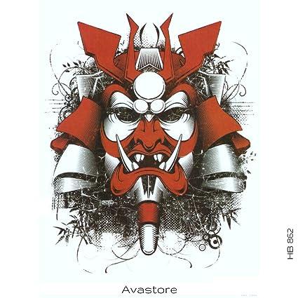 Tatuaje temporal guerrero Samurai tatuaje temporal, tatuaje ...