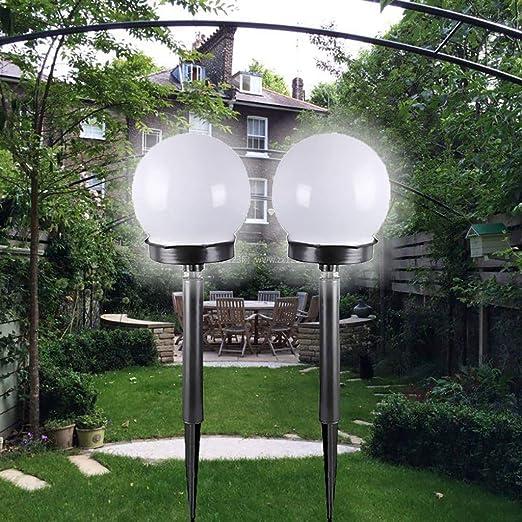 Tefamore Lámpara Solar para Jardín 2Pcs LED Energía Solar Jardín ...