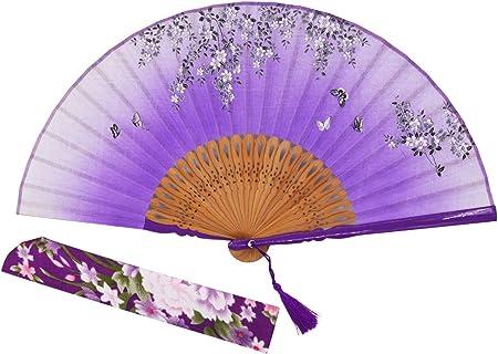Tamaño: se abre hasta 21 x 38 cm.,Complementado con una elegante borla y una funda de seda hechos a
