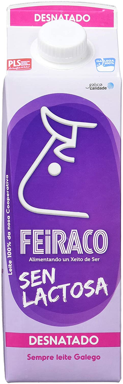 Feiraco Leche UHT Desnatada sin Lactosa - Paquete de 6 x 1000 ml - Total: 6000 ml: Amazon.es: Alimentación y bebidas