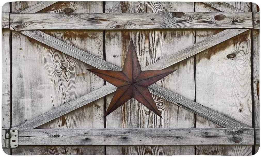 """MEIDU MDadorn Western Texas Star Durable Rubber Door Mat Indoor Outdoor Floor Mats for Entryway 15.7"""" x 23.6"""" All Weather Garden Rug Waterproof Felt Non-Slip Entrance Doormat with Rubber Backing"""
