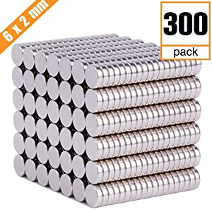 FINDMAG 300 PCS Refrigerator Magnets Premium Brushed Nickel Fridge Magnets,Office Magnets,Whiteboard Magnets