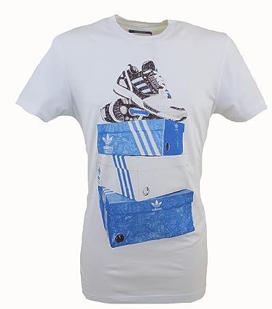 Adidas Originals scatole Maglietta in Cotone Bianco t-Shirt X34448 Taglie  Medium 84f885d1f7a0