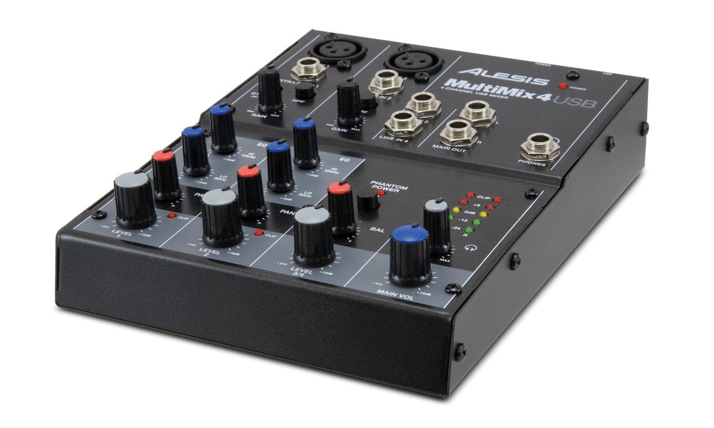 Alesis MultiMix 4 USB Four-Channel USB Mixer MULTIMIX4USB