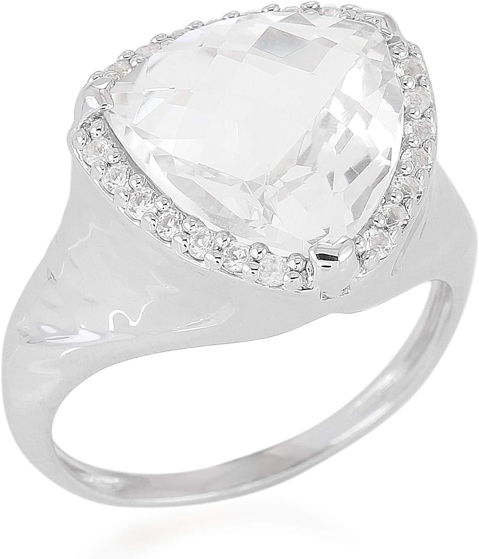 Pink Quartz 925 Solid Sterling Silver Big Statement Ring
