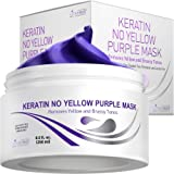 Vitamins Keratin Purple Hair Mask - Violet Blue Protein Deep Conditioner Treatment - Toner for Blonde Platinum Silver…