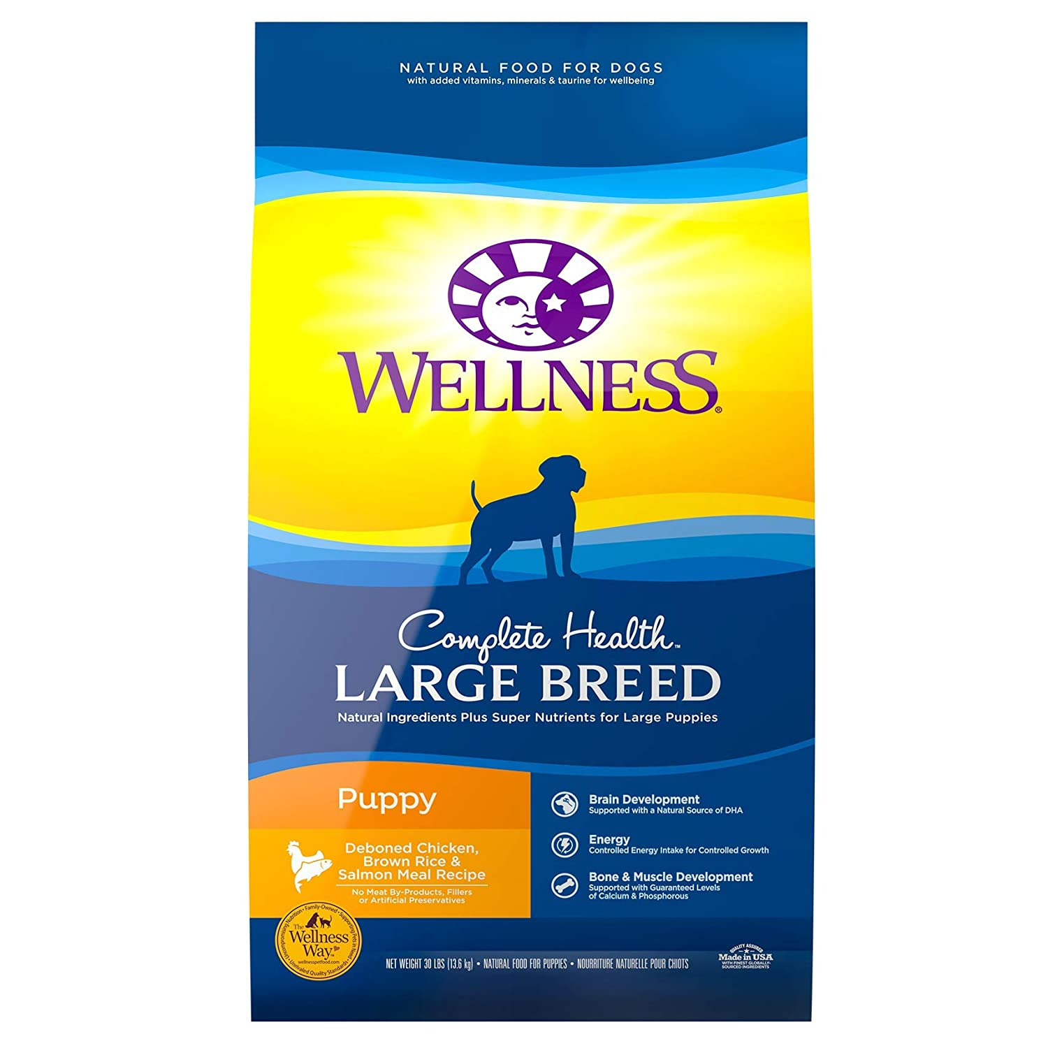2. Wellness Large Breed Complete Health Puppy