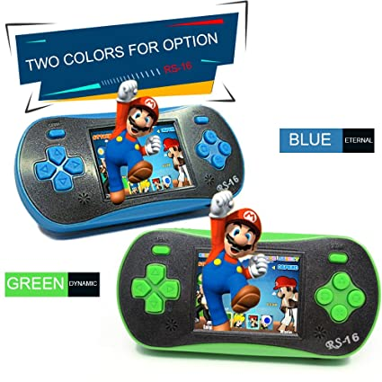 KKmoon Portable Video Game Console 8 Bit Retro Handheld Game Player Built-in 260 Classic Games - Green