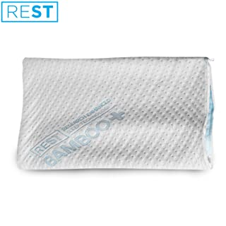 """REST Home Collections Eco-Cool Bamboo Pillow Cover with Zipper (1, Queen 20""""x30"""")"""