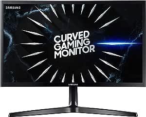 Samsung C24RG52 - Monitor Curvo Gaming de 24'' Full HD (1920x1080, 4ms, 144 Hz, FreeSync, Flicker-Free, LED, VA, 16:9, 3000:1, 1800R, 250 cd/m², 178°, HDMI, Base en V) Negro