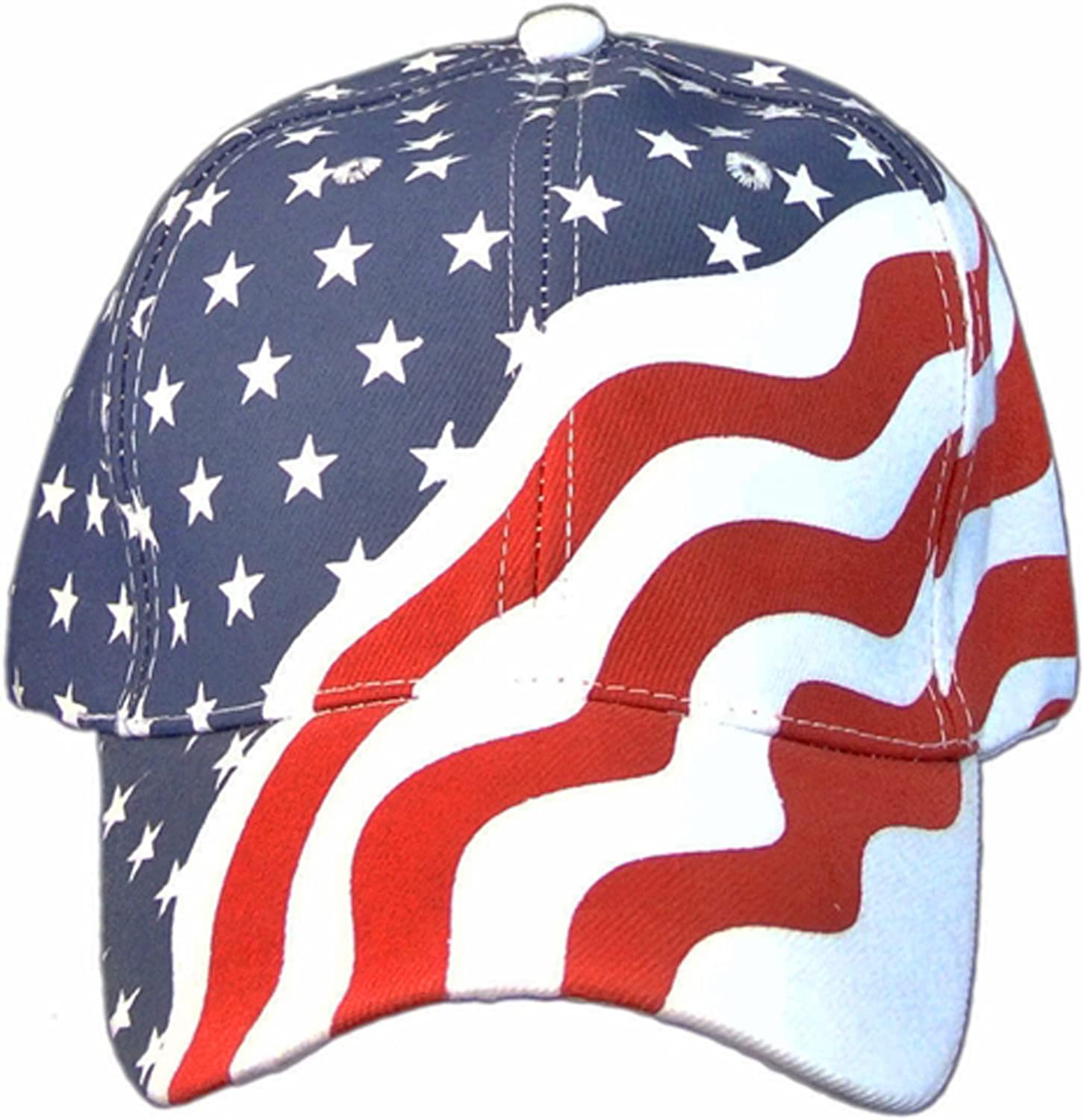 Amazon.com: American Flag Patriotic Flag Baseball Cap/ Hat in Red ...