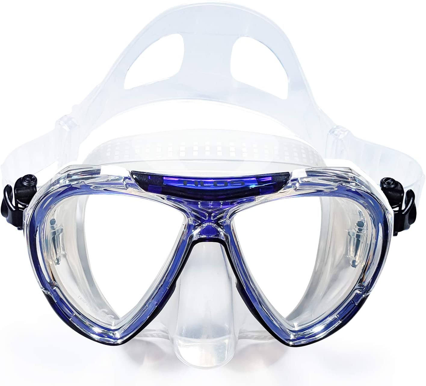 Tilos Revo, Wide View Snorkel Diving Mask: Scuba, Snorkeling, Free Dive, and Swim 180 Masks - Anti Fog Divers Goggles with Double Lens, Nose Cover, Silicone Strap - Men/Women Adult Water Gear