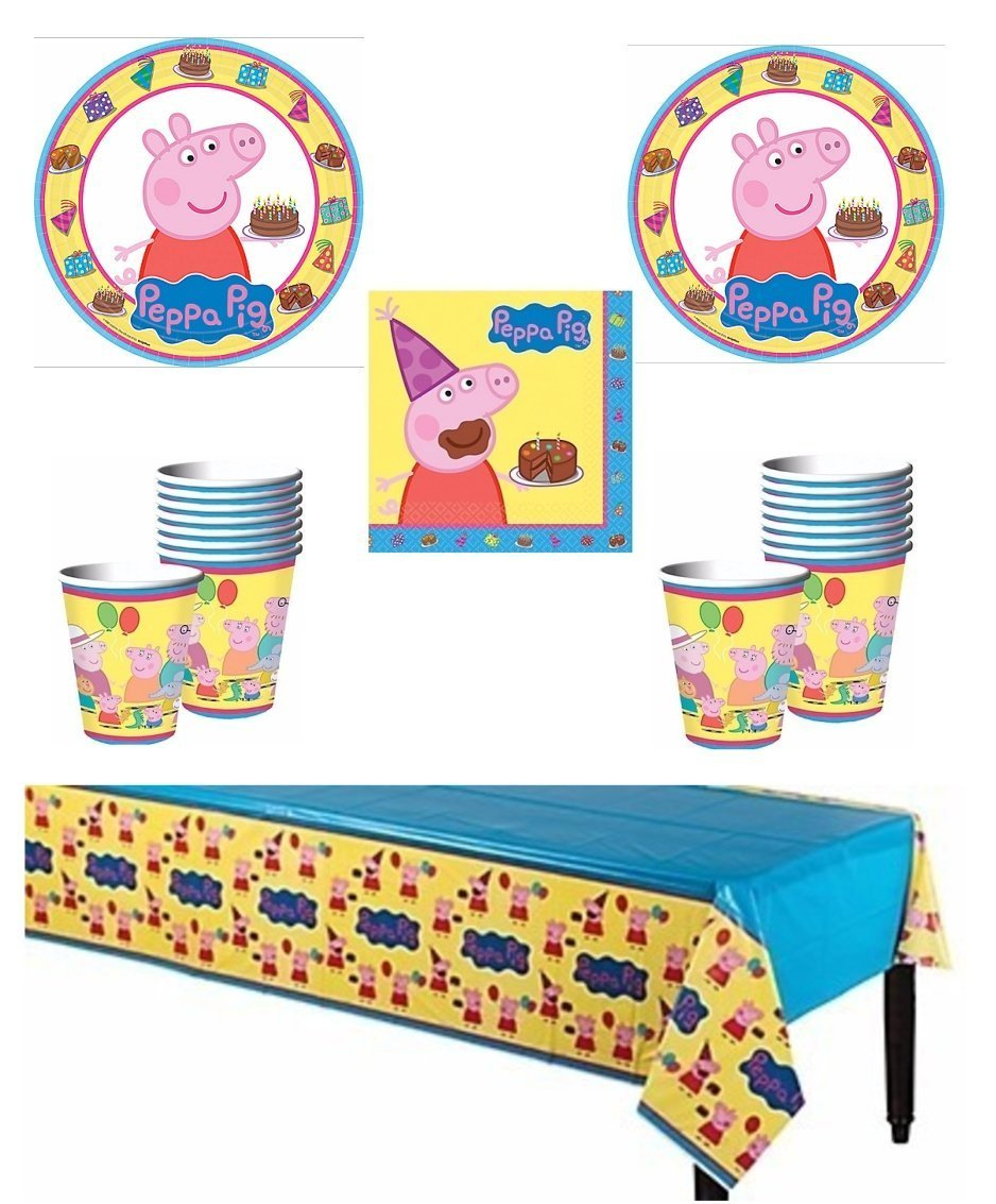Peppa Pig Deluxe Party Supply Pack for 16 Guests by Party Supplies