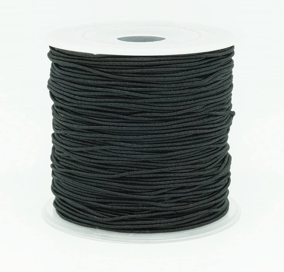 8mm 12 Cord Flat Elastic black Premium Grade Stretch Cord 5 metre