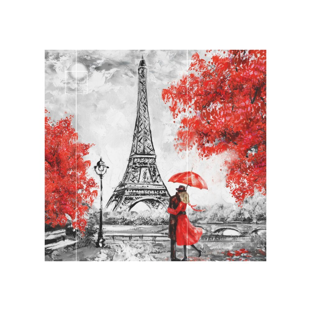 InterestPrint Eiffel Tower Lover Neoprene Water Bottle Sleeve Insulated Holder Bag 16.90oz-21.12oz, Paris Oil Painting Sport Outdoor Protable Cooler Carrier Case Pouch Cover with Handle by InterestPrint (Image #7)