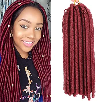 Amazon Com 5pcs Soft Dread Lock Hair 14 Inch Dreadlocks Twist Braids Crochet Hair  Strands Synthetic Braiding Hair Extensions High Temperature
