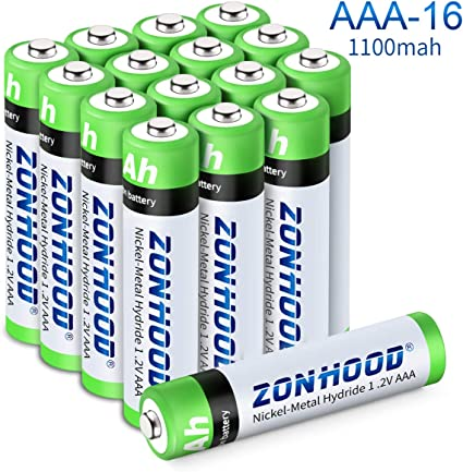 Rechargeable AAA Batteries High-Capacity AAA Rechargeable Batteries 1.2V Ni-MH Low Self Discharge Lasting Power Recharge Battery 8PACK 1100mAh AAA Batteries