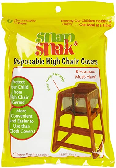 amazon com snap snak disposable high chair covers childrens