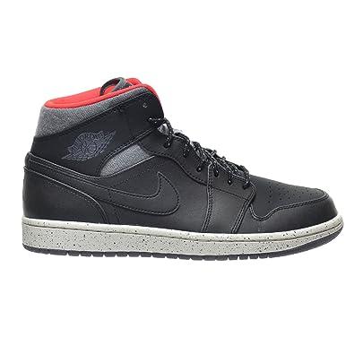 Air Jordan 1 Mid Noir / Gris Foncé / Infrarouge 23