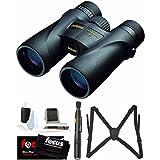 Nikon 7577 Monarch 5 10 x 42 Waterproof/Fogproof Roof Prism Binoculars with Nikon Lens Pen & Essential Accessory Bundle