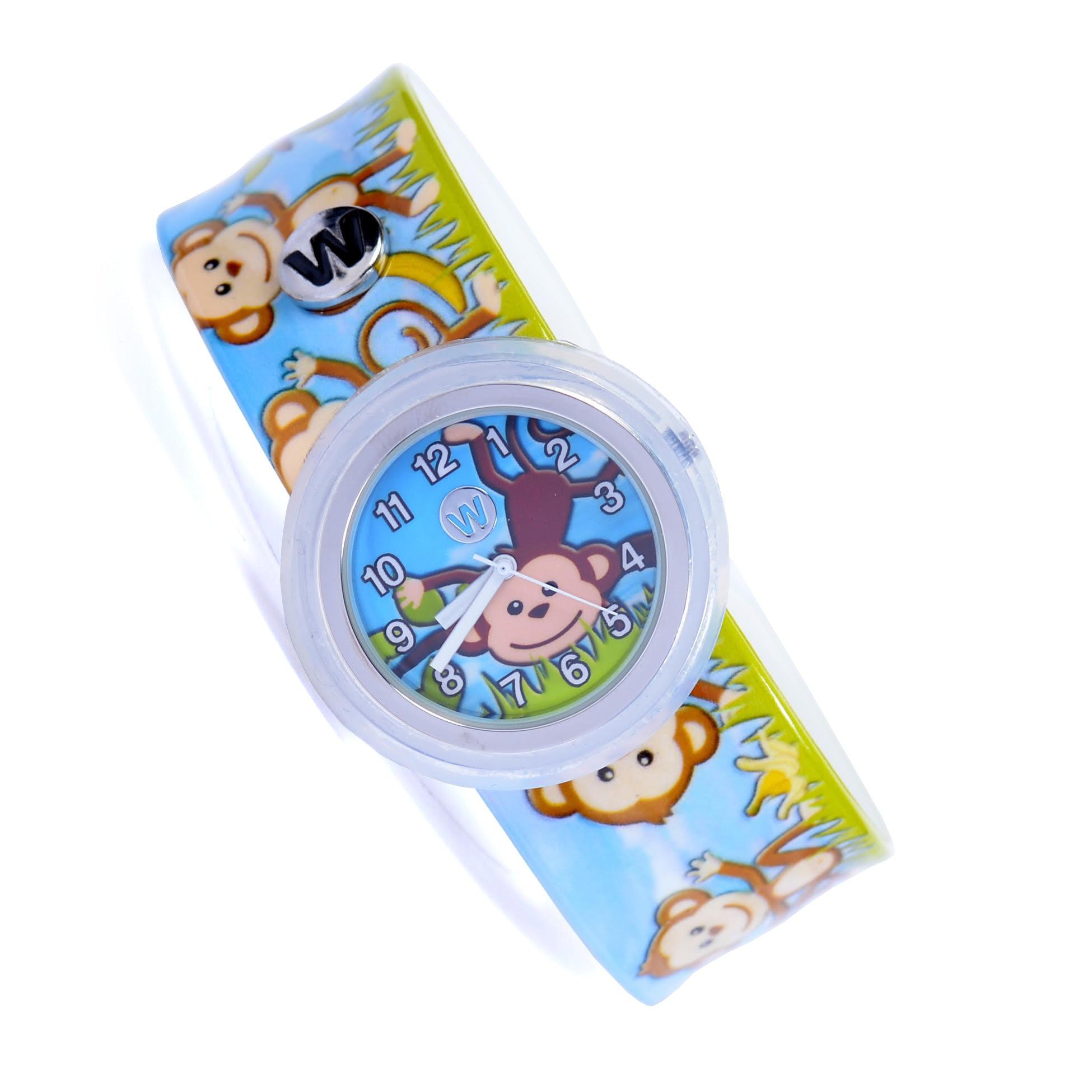Watchitude Plunge Proof Slap Watch - Monkey Business - Kids Watch for Boys & Girls