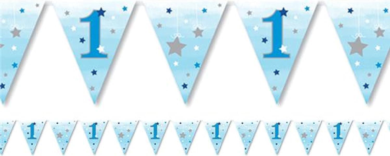 1er Ensemble de Vaisselle Fancy Me B/éb/é Gar/çons Sp/écial 1er Anniversaire Bleu Argent F/ête C/él/ébration Papier Vaisselle D/écorations Accessoires