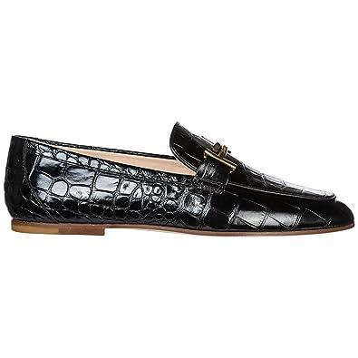 styles de mode nouveau design meilleur prix pour Tod's Mocassins Femme en Cuir Noir: Amazon.fr: Chaussures et ...