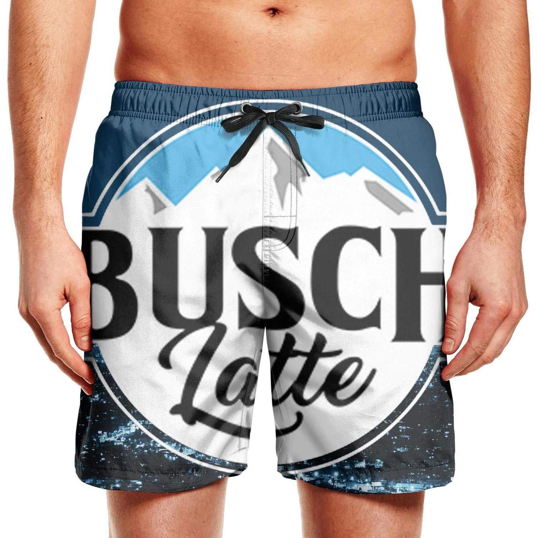 NIANLJHDe Mans Solid Mens Swimwear SwimmingBusch Light Busch Latte Running Quick Dry Beach Shorts