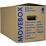 25 x UMZUGSKARTONS ZWEIWELLIG - 634 x 290 x 326 mm - MOVEBOX - 2.20 EB Welle