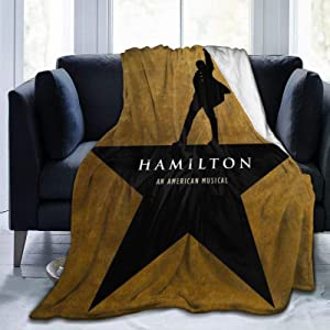 "PANDASTYLE Hamilton Ultra-Soft Micro Fleece Blanket Home Decor Warm Anti-Pilling Flannel Throw Blanket for Couch Bed Sofa,50"""" X40"